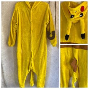Pikachu Fuzzy Onesie Hoody